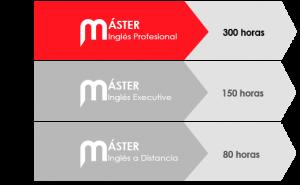 Detalle horas de trabajo personal Máster en Inglés Profesional